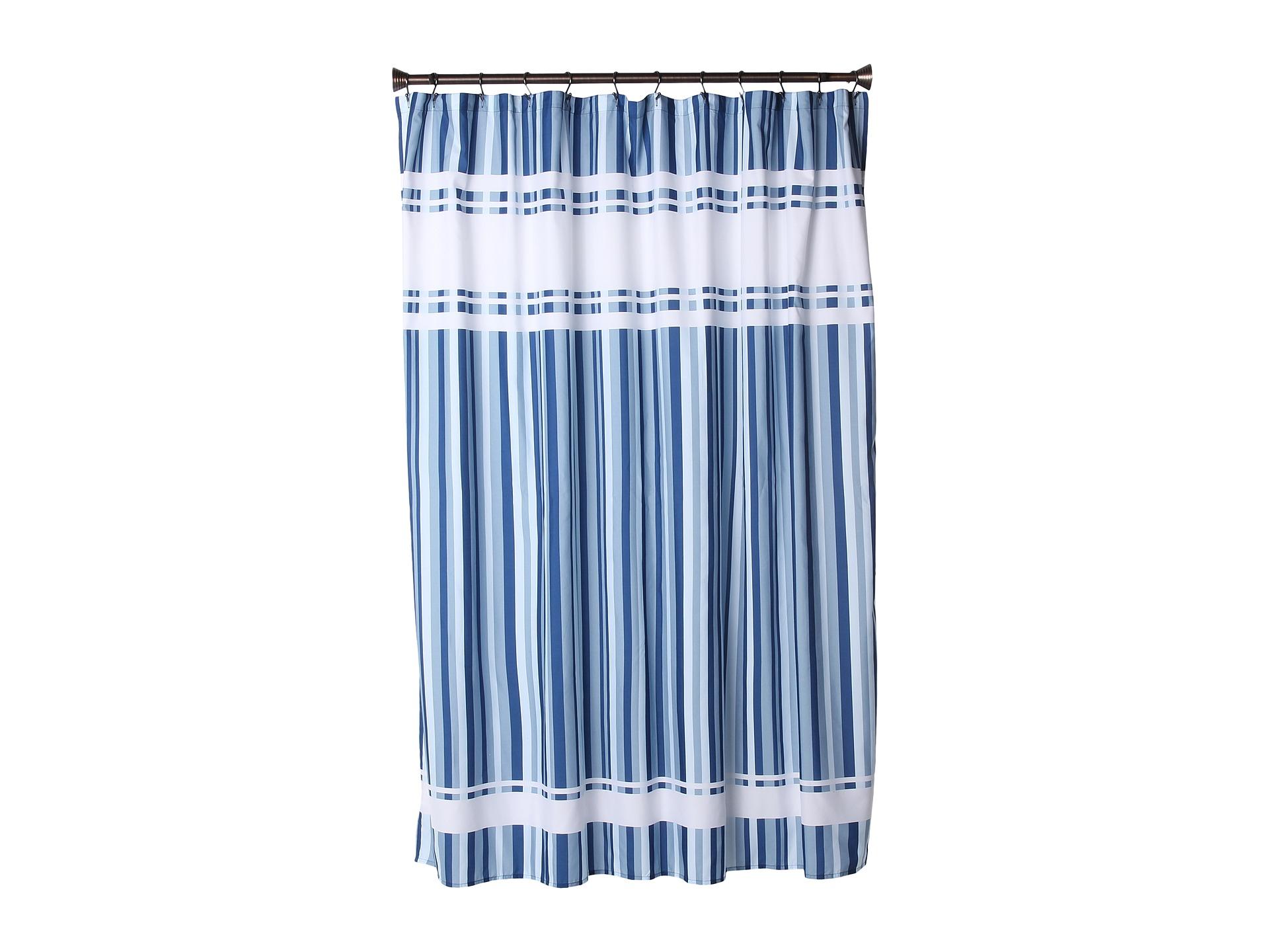 Interdesign hudson stripe shower curtain surf blue shipped free at