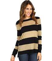 Vince Camuto - High Low Lurex Stripe Sweater