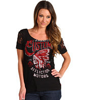Affliction - Arapaho Side Lace Boyfriend Tee