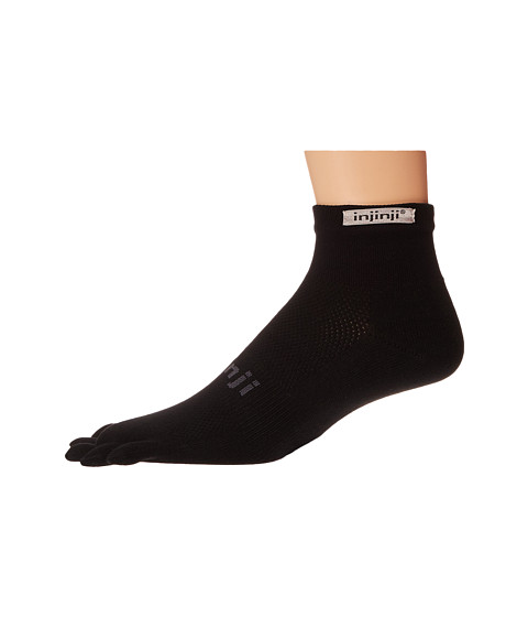 Injinji Run Original Weight Mini-Crew Coolmax 3 Pair Pack - Black