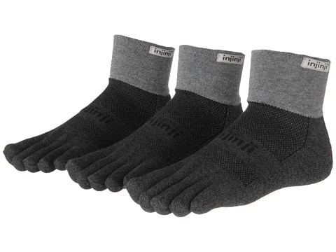 Injinji Trail Midweight Mini-Crew Coolmax 3 Pair Pack - Granite