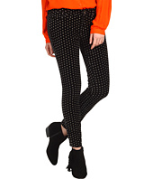 Free People - Polka Dot Velvet Cropped Skinny Pant