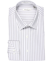 Kenneth Cole New York - Non-Iron Slim Textured Stripe L/S Dress Shirt