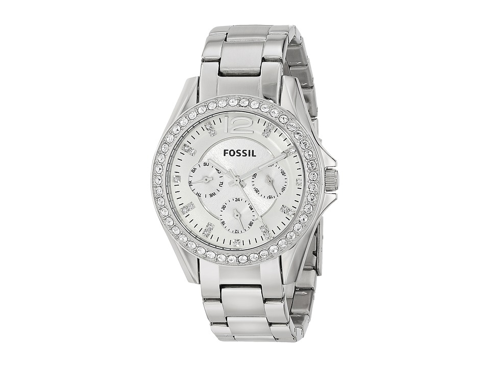 Fossil - Riley - ES3202 (Silver) Analog Watches