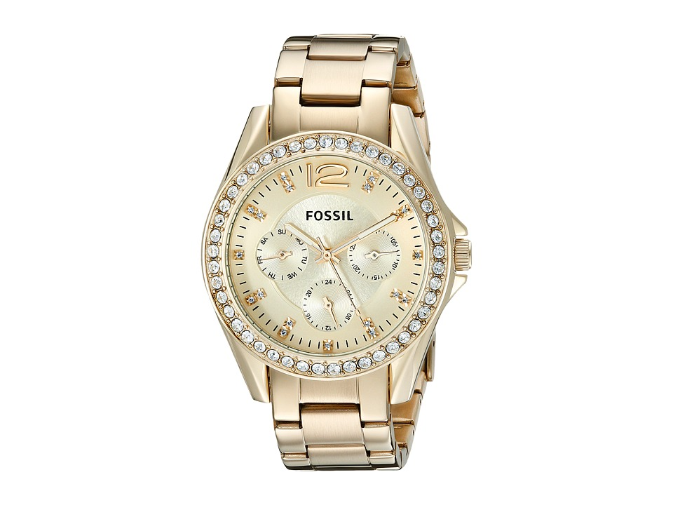 Fossil - Riley - ES3203 (Gold) Analog Watches