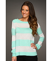Vince Camuto - L/S Lurex Stripe Sweater