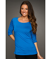 Vince Camuto - 3/4 Sleeve Rouched Scoop Neck Top