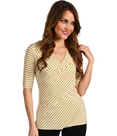 Vince Camuto - Elbow Sleeve Sparkle Stripe Bandage Top