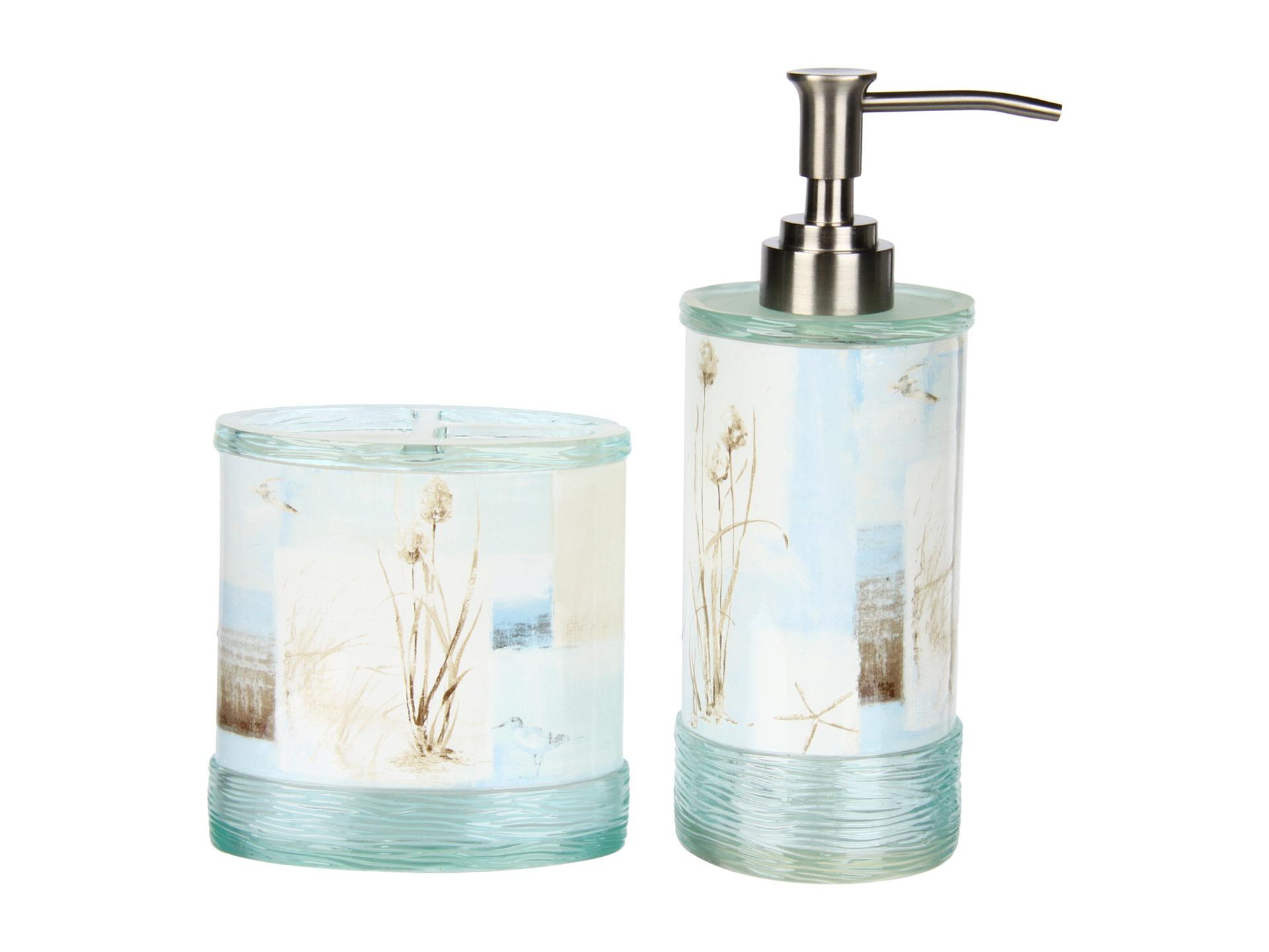 Avanti blue waters 3 piece bath accessory set shipped for Blue bath accessories set