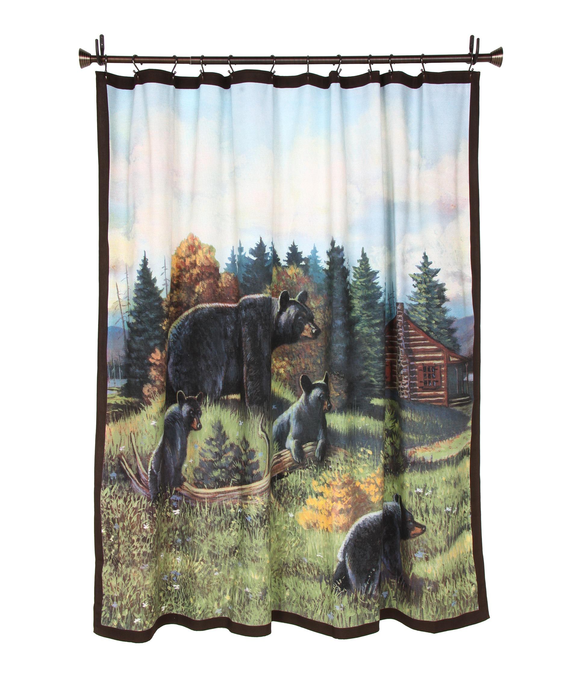 bear shower curtain black bear silhouette shower curtain buy bear