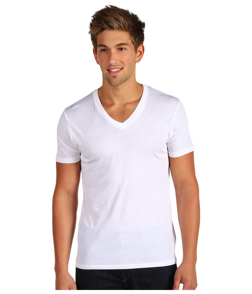 Alternative - Perfect V-Neck (White) Mens T Shirt