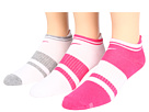 Nike - Classic Low-Cut Tab 3-Pair Pack (White/Pink Force/Pink Force/White/White/Dark Grey Heather)