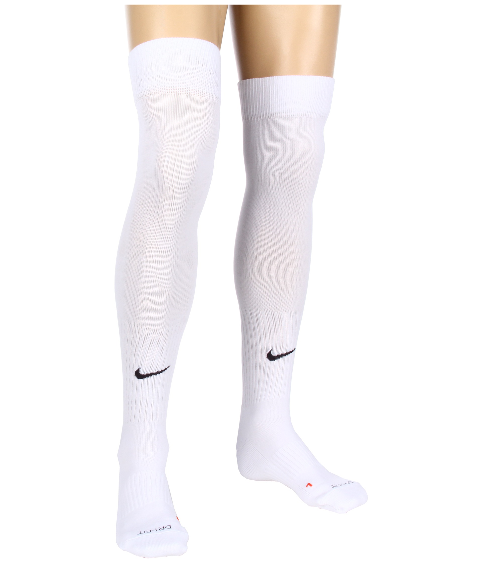 White nike soccer socks