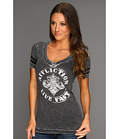 Affliction - Eden S/S V-Neck Top