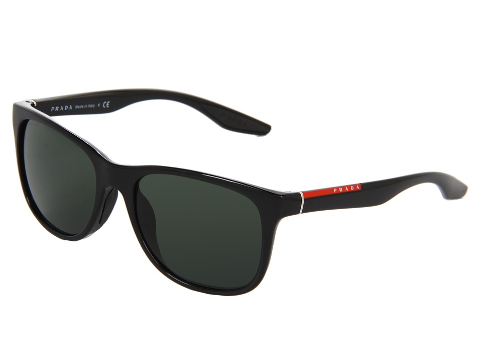 Prada Linea Rossa PS 03OS Black/Grey Green Lens Fashion Sunglasses