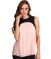 Tibi - Yoked Sleeveless Pleat Blouse