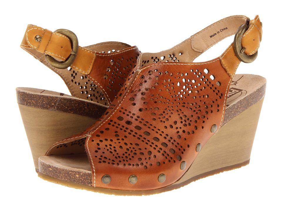 Pikolinos Benissa 868 9342 Brandy/Mostaza Womens Wedge Shoes