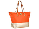 Dooney & Bourke Lambskin Color Blocks O-Ring Shopper