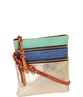 Dooney & Bourke - Lambskin Color Blocks North/South Triple Zip