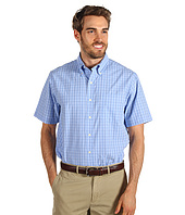 IZOD - Short Sleeve Saltwater Poplin Mini Plaid