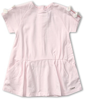 Chloe Kids - Cotton Jersey Dress w/ Bow on Sleeves (Infant)