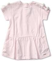 Chloe Kids - Cotton Jersey Dress w/ Bow on Sleeves (Toddler)