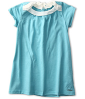 Chloe Kids - Jersey S/S Dress w/ Silk Crepe Yokes (Infant)