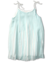 Chloe Kids - Satin Pleated Dress w/ Tied Straps (Little Kids)