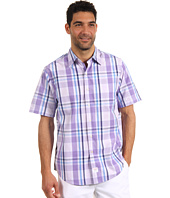 IZOD - Large Plaid Short Sleeve Saltwater Poplin