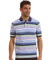 IZOD - Short Sleeve Oxford Wide Stripe Pique