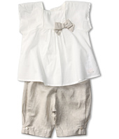 Chloe Kids - Percale Blouse and Glossy Linen Pant Set (Infant)