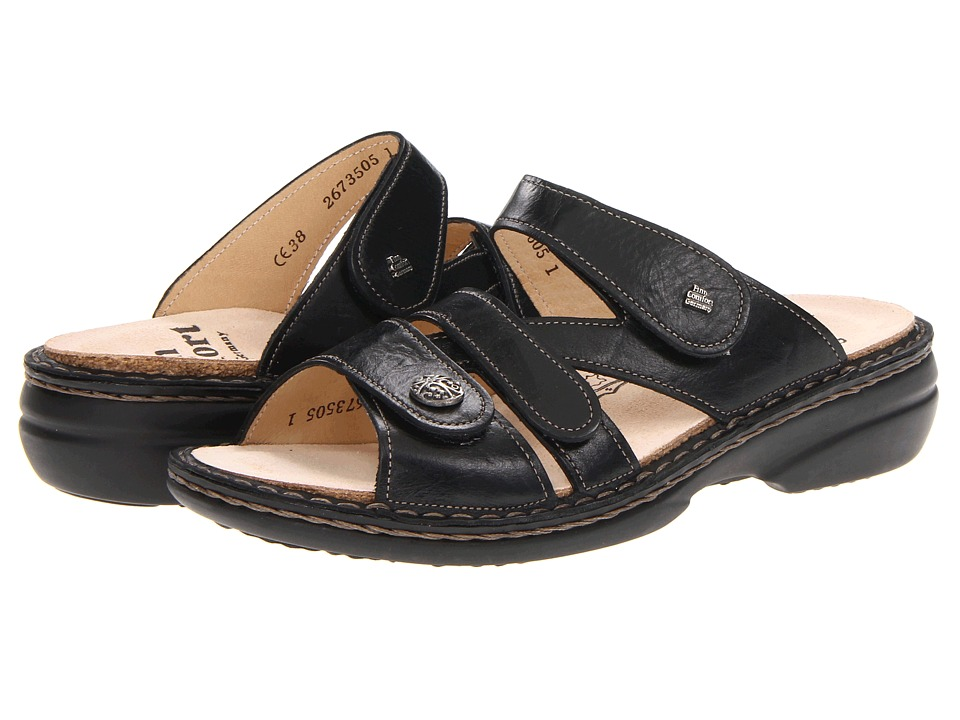 Finn Comfort Soft Ventura 82568 Black Womens Slide Shoes