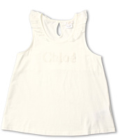 Chloe Kids - Jersey Tank Top w/ Collar Ruffles (Big Kids)
