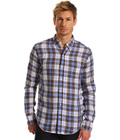 Vince - Long Sleeve Button Up Linen Plaid