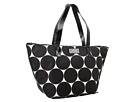 Kate Spade New York - Deborah Dot Nylon Small Coal (Black/Clotted Cream) - Bags and Luggage