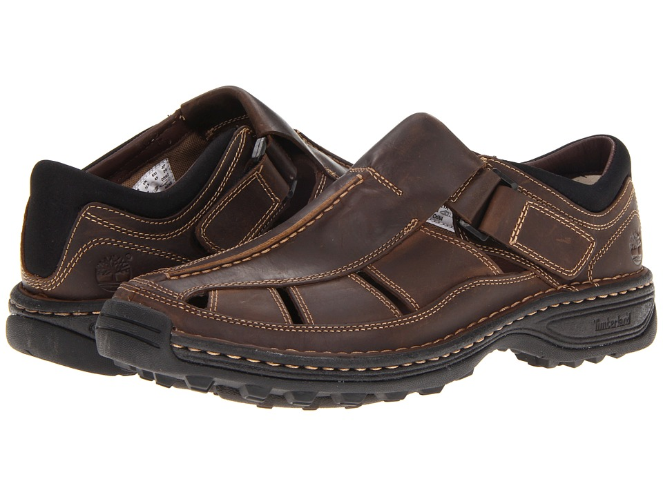 Timberland - Altamont Closed Toe/Closed Back Fisherman (Brown Smooth) Men