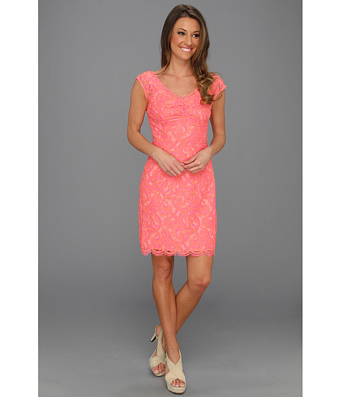 Lilly Pulitzer - Rosaline Dress (Ginger Orange About Face Lace) - Apparel
