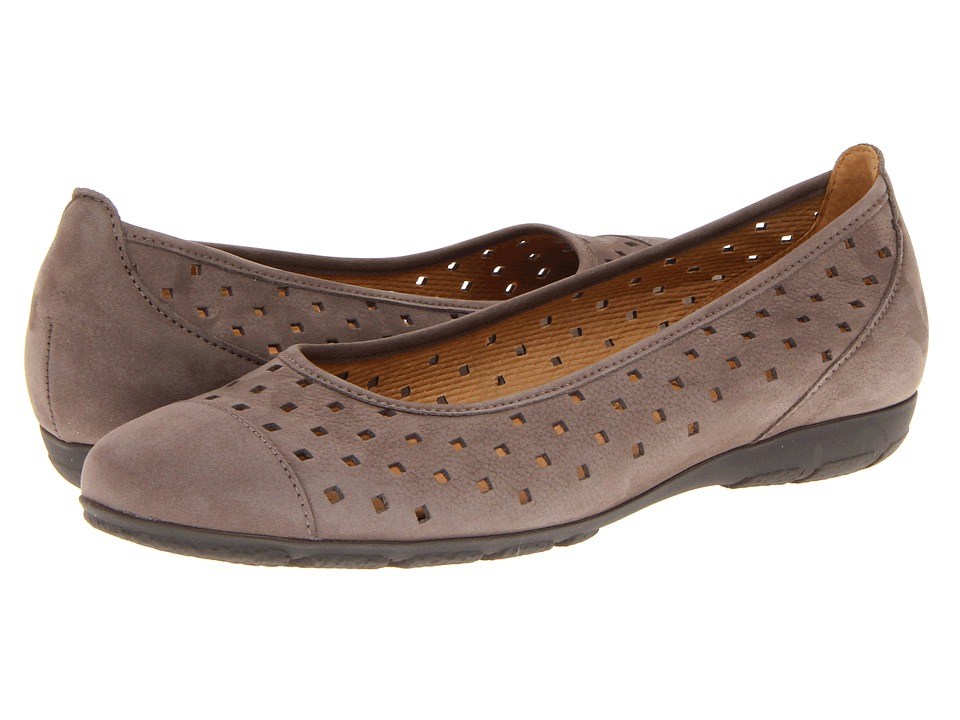Gabor - Gabor 44.169 (Dark Taupe) Womens Flat Shoes