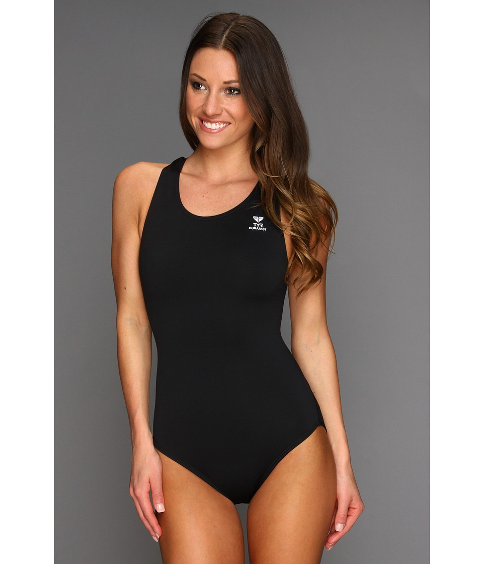 TYR - Durafast Elitetm Solid Maxfit Swimsuit (Black) Womens Swimsuits One Piece