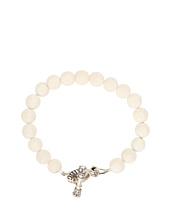 King Baby Studio - White Coral Bracelet with Toggle Clasp