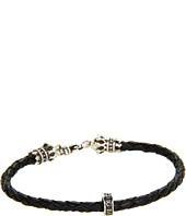 King Baby Studio - Thin Leather Braided Crown Bracelet