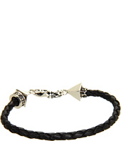 King Baby Studio - Thin Leather Braided Pyramid Bracelet