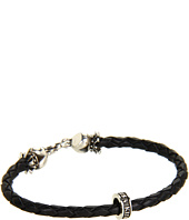King Baby Studio - Thin Leather Braided Crowned Heart Bracelet