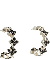 King Baby Studio - Small Pave Black CZ MB Cross Hoops