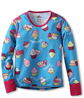Hot Chillys Kids - Girls' Midweight Print Crew (Little Kids/Big Kids)