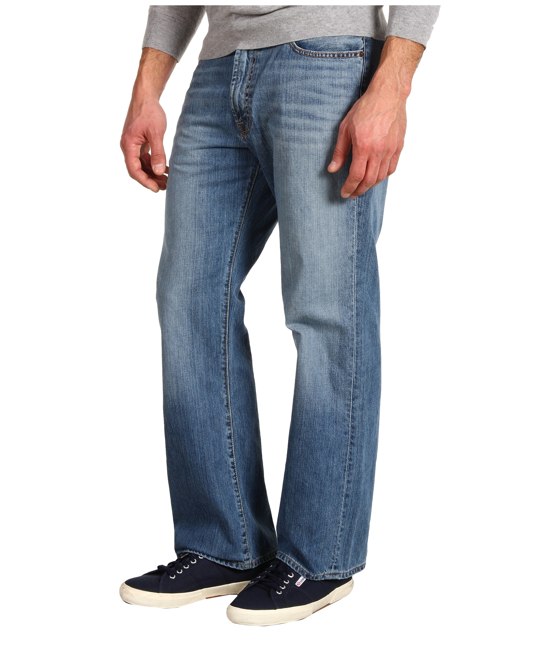 Lucky Brand 181 Relaxed Straight 30 in Light Cardiff