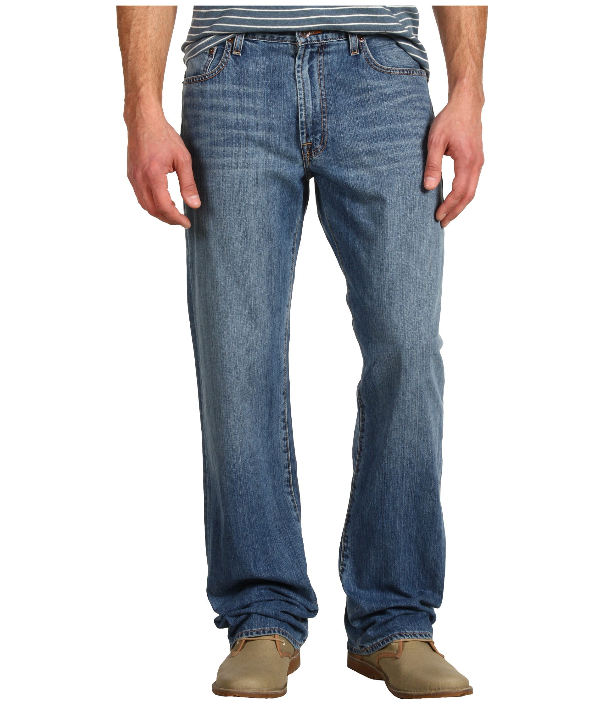 Lucky Brand 181 Relaxed Straight 34 in Light Cardiff