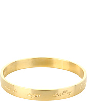Kate Spade New York - Engraved Idiom Bangles