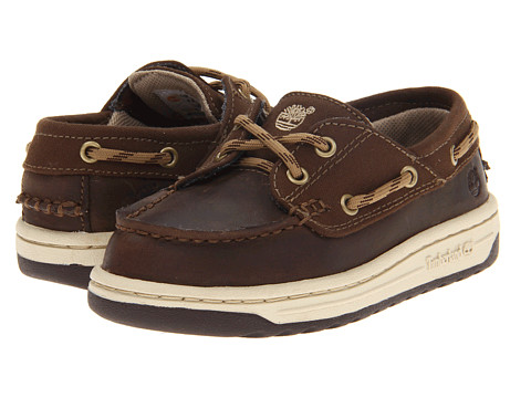 Timberland Kids Ryan Springs Leather and Fabric Boat Shoe