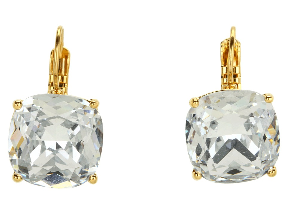 Kate Spade New York - Small Square Leverbacks (Clear) Earring